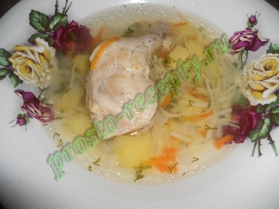Суп куриный в мультиварке