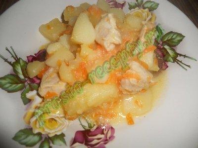 Картофель тушеный в мультиварке Редмонд